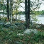 Graven, en stensättning, på Suhpegádde vid Ligga